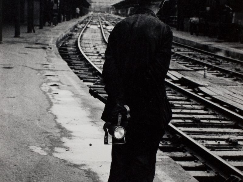 Simpson Kalisher, A Railroader Waiting to Dead-Head Home, c. 1957
