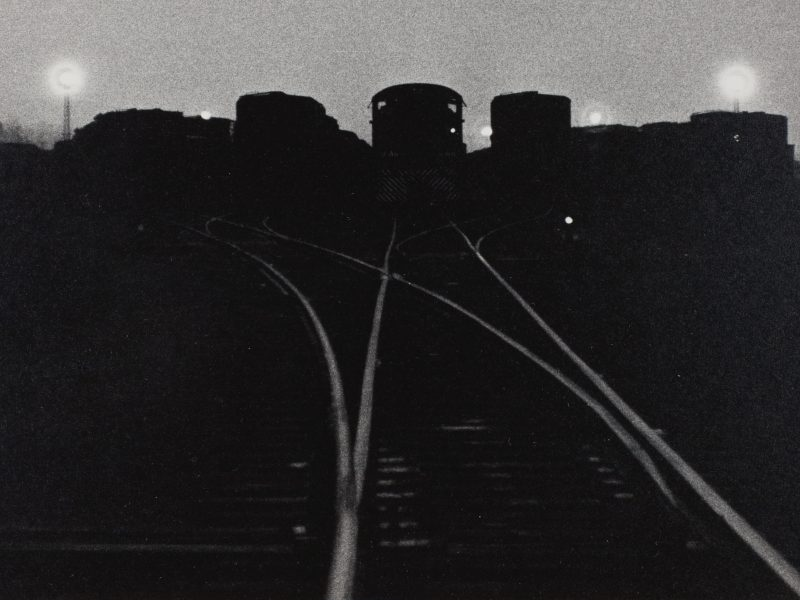 Simpson Kalisher, A Night Scene in the Yards, c. 1957