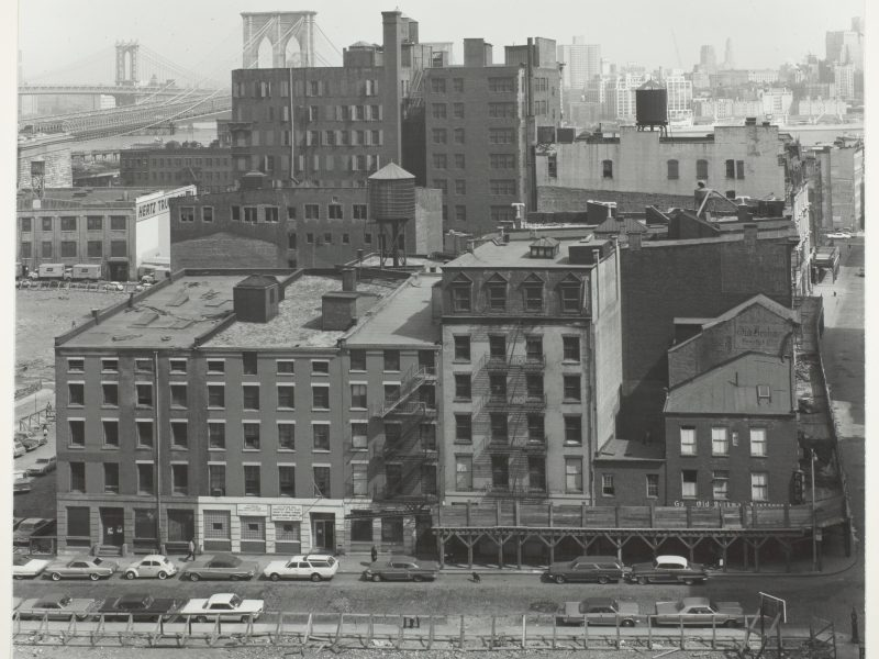 Danny Lyon,Brooklyn Bridge Site from the Roof of the Beekman Hospital, c. 1967