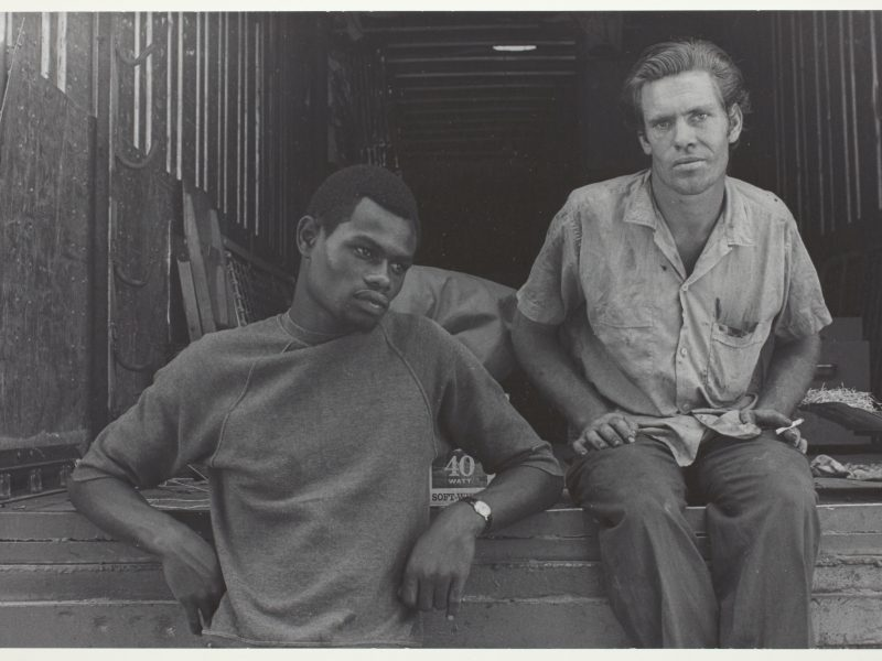 Danny Lyon, Two Workers at the State Fair, (Knoxville, Tennessee), 1967