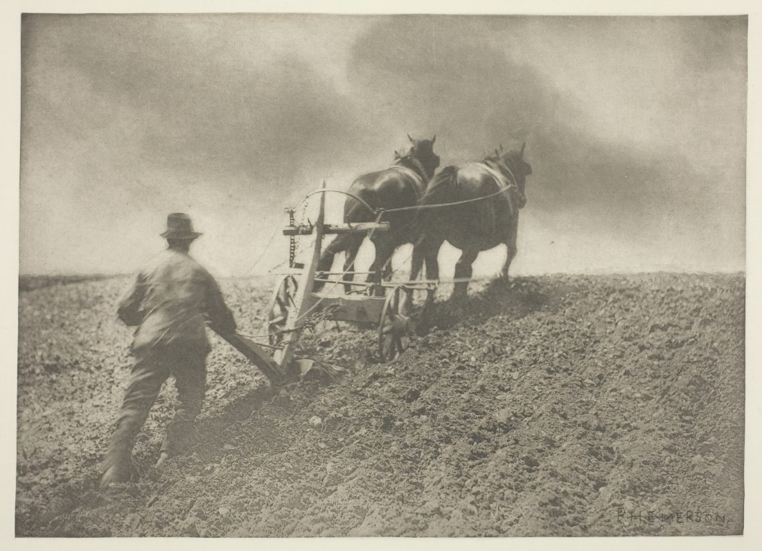 Peter Henry Emerson, A Stiff Pull, (Suffolk), c. 1883/87