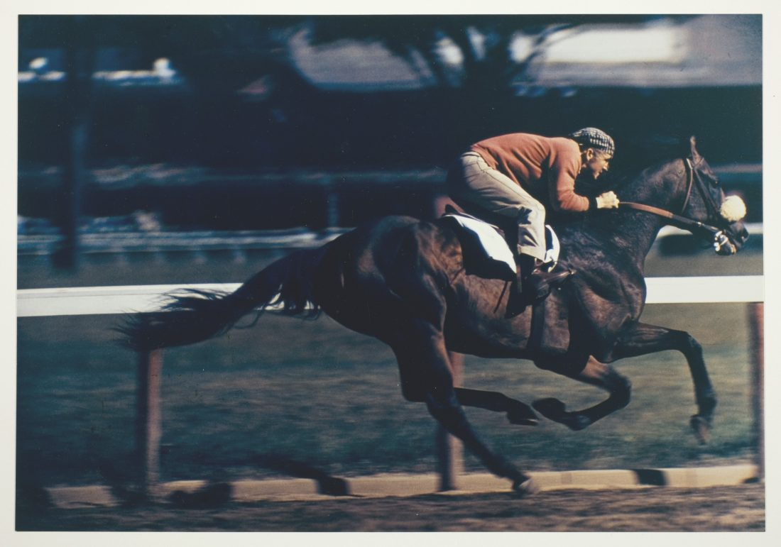 Robert Riger, Racehorse: Morning Work - Breezing Out a Three-Year Old, c. 1957