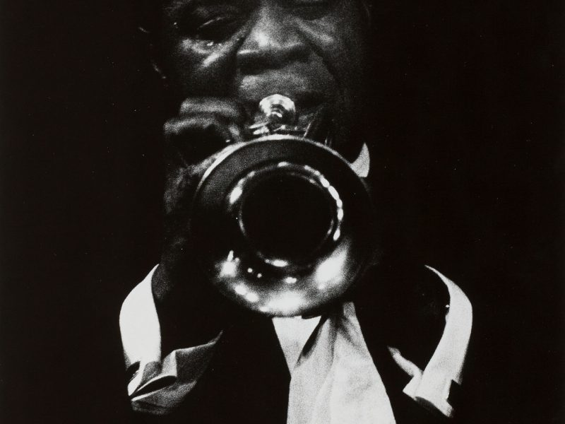 Dennis Stock, Louis Armstrong Playing the Trumpet, 1958