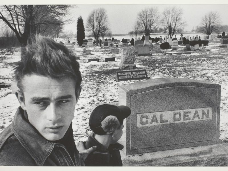 Dennis Stock, Jimmy Visiting the Cemetery, 1955