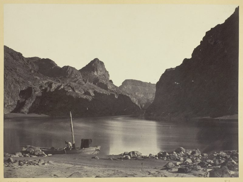 Timothy O'Sullivan, Black Cañon, Colorado River, from Camp 8, Looking Above, 1871
