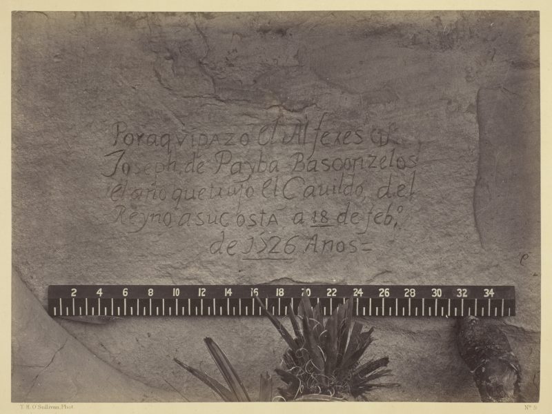 Timothy O'Sullivan, Historic Spanish Record of the Conquest, South Side of Inscription Rock, N.M.- No. 3. , 1873