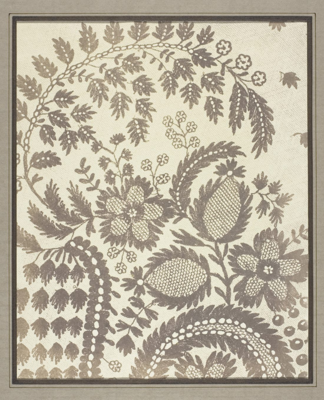 William Henry Fox Talbot, Lace, 1844/45