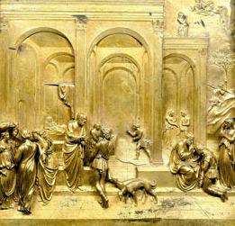 Lorenzo Ghiberti (Italian 1378\u20131455). Jacob and Esau Panel from Gates of Parardise 1425\u201352. Gilt bronze. Collection of the Museo dell\u0027Opera del Duomo. & The Gates of Paradise: Lorenzo Ghiberti\u0027s Renaissance Masterpiece Pezcame.Com