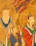 The Star-lords of Good Fortune, Emolument, and Longevity (Detail)